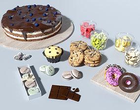 3D model Cake set bar