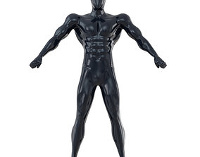 Fitness mannequin with big muscles posing 147 3D model