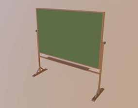 Chalkboard 3D asset