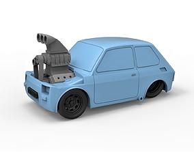 Diecast model Crazy Fiat 126p Scale 1 to 24
