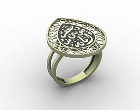 3D printable model Arabic Gold Ring