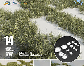 Grass pack A 3D model