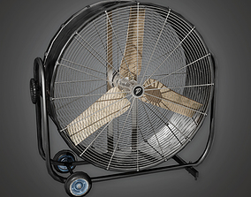 3D asset realtime Industrial Fan HLW - PBR Game Ready