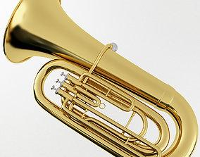 brass 3D model Brass Tuba