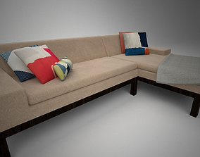 West Elm Lorimer Sofa with Chaise 3D model