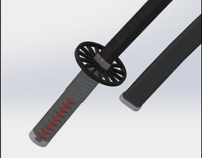 Tanjiro Kamado Demon Slayer Kimetsu no Yaiba Sword 3D