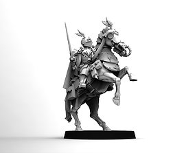 Feudal Guard High Born Cavalry Officer 3D printable model