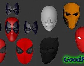 Set of masks Spider-Man Deadpool 3D printable model 4