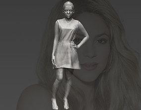 Shakira 3D printing ready stl obj formats
