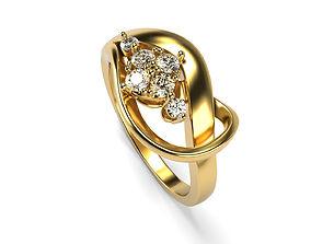 Six Stones Top Ring 3D printable model
