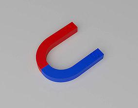 Horseshoe Magnet U Shape Magnet 3D asset