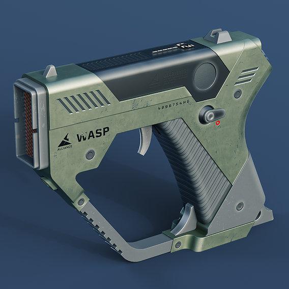 Sci-Fi Handgun for VR