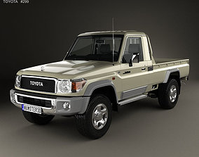 3D model Toyota Land Cruiser Single Cab Pickup with HQ 1