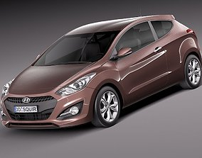 3D model Hyundai i30 3-door 2013