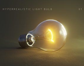 3D model Photorealistic Light Bulb