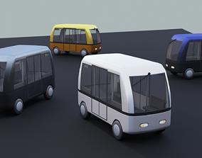 Autonomous Electric People Mover 3D asset