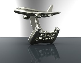 Cufflinks Sukhoi Superjet 3D printable model