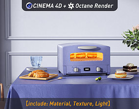 3D model Oven on the table