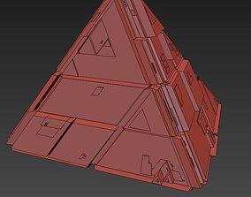 3D model Sci Fi Pyramid Shape Triangle
