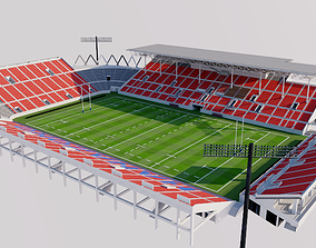 Hanazono Rugby Stadium - Japan 3D model