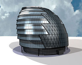 london city hall 3D
