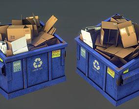 RECYCLING DUMPSTER 3D asset