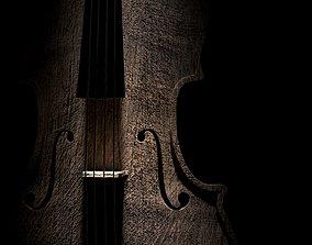 3D asset Mat wooden cello