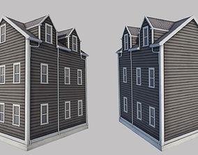Boston House 3D model game-ready