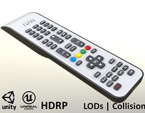 2000s TV Remote Control Gray 3D model