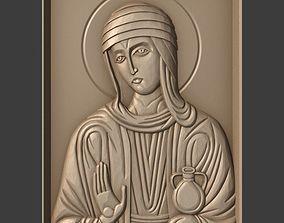 3D print model Orthodox Christian Icon of Saint Mary