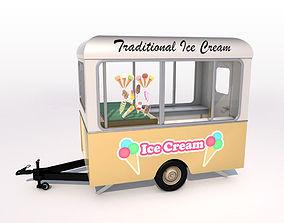 3D model Ice Cream Trailer