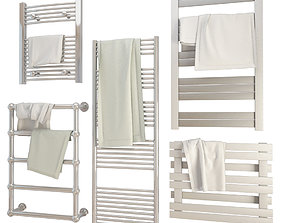 3D Bathroom Towels and Radiators