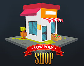 Low Poly Shop 3D asset