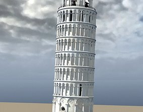 3D Leaning Tower of Pisa in multiple formats