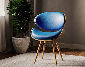 3D Corvus Madonna Mid-century Teal Accent Chair