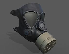 Gas mask helmet 3d model military realtime PBR