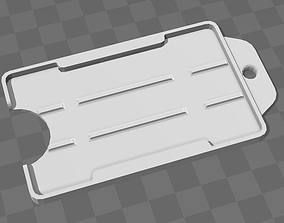 Badge holder ready to be hanged 3D printable model