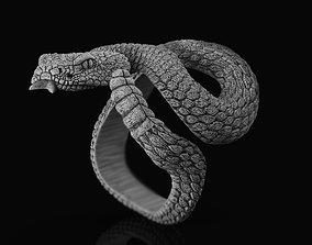 Ring rattlesnake 3D printable model lizard