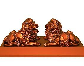 3D print model Double lions