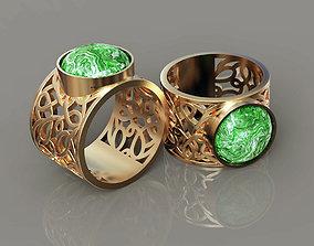 Women ring lace ornament 3D printable model