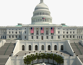 3D United States Capitol