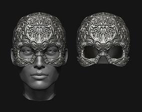 Skull helmet 3D printable model skeleton