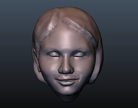 Female Head 5 3D printable model