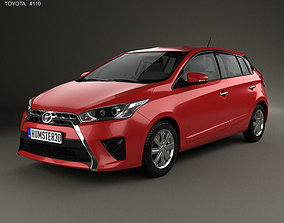 3D model Toyota Yaris 5-door hatchback 2014