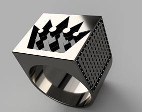man Brutal Crown Ring 3D printable model