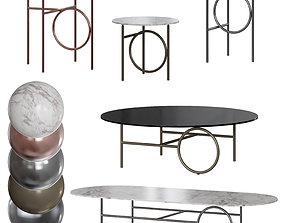 Minotti Ring Coffee Tables 3D model