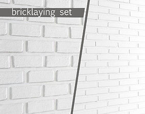 3D White bricks