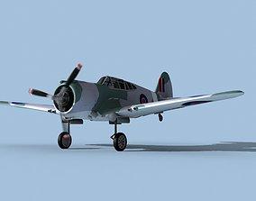 Curtiss H-75C Mohawk V21 RAF 3D model