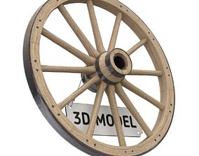 3D model Vintage Wood Wheel