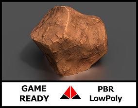 3D model Stylised rock
